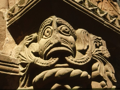 The Green Man at Kilpeck Church, where Lyons journey began...