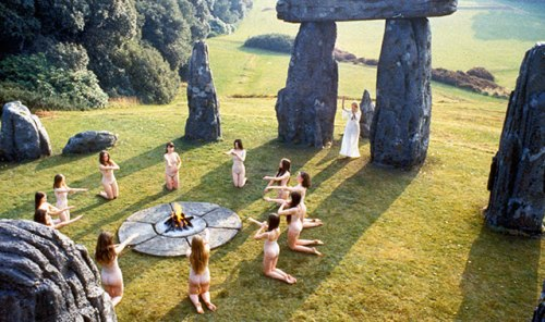 "Still from the movie ""The Wicker Man"" Brrrrr! No wonder the director let them keep their undies on..."