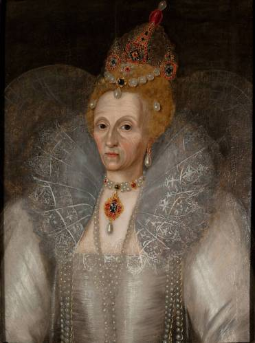 The ageing Queen... Elizabeth I by Marcus Gheeraerts the Younger c.1595