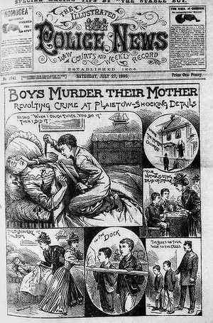 The front page of the illustrated Police News 1895