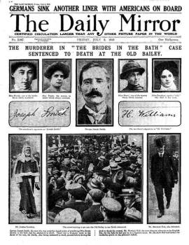 The sensational trial gave people something to take their minds off the war...