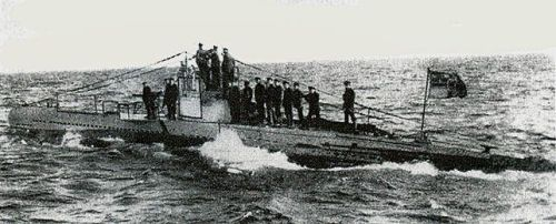 U-20 - the U-boat that fired the fatal torpedo...