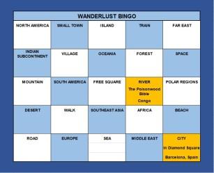 Wanderlust Bingo March 2021