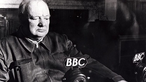 Churchill broadcasting
