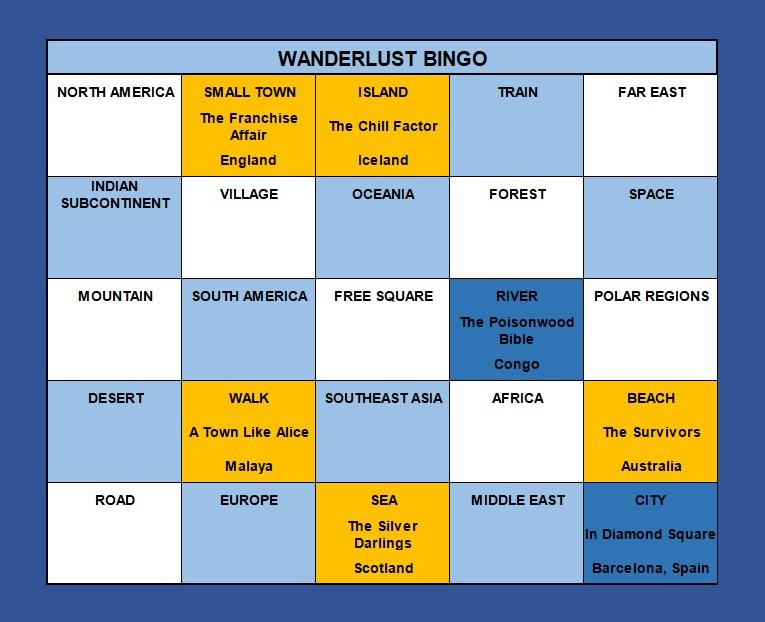 Wanderlust Bingo June 2021